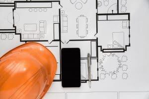 סמארטפון על תכניות בניה